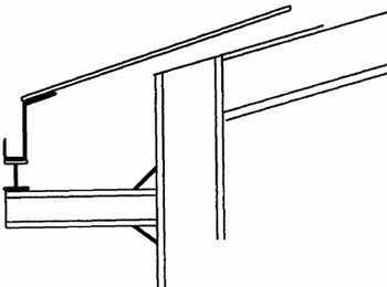 تصویر شماتیک اجزای سقف سوله