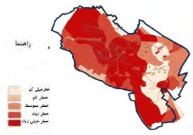 نقشه1: همپوشانی خطر از جنبه