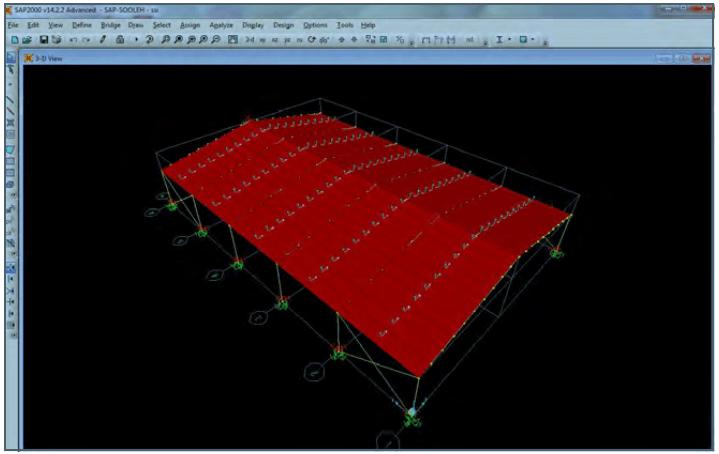 شکل1: نمای سه بعدی سوله