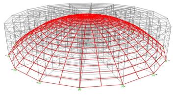 بررسی مقدار مصرف مصالح فولادی در ساخت سه نوع سقف گنبدی، سوله ای و فضاکار