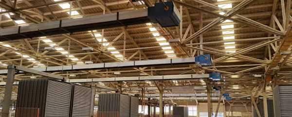 فشای داخلی سقف سوله